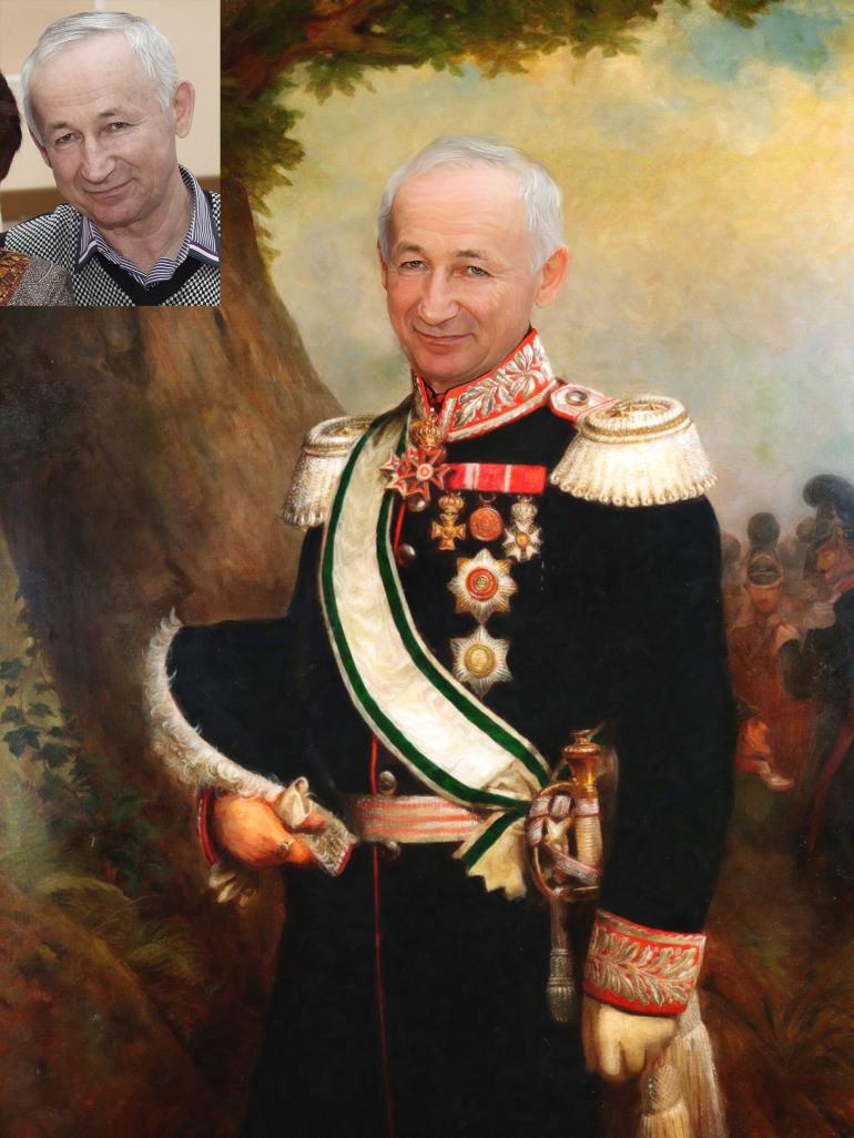 Где заказать исторический портрет по фото на холсте в Омске?