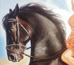 Фрагмент портрета маслом в Омске
