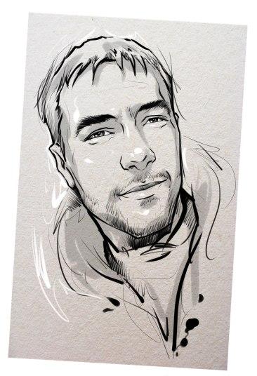 Портрет карандашом любимому мужу в Омске…
