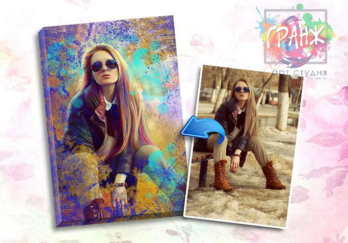 Портрет по фото на заказ в честь 8 марта в Омске
