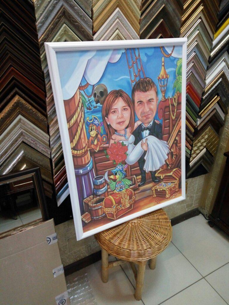 портрет шарж на заказ в омске