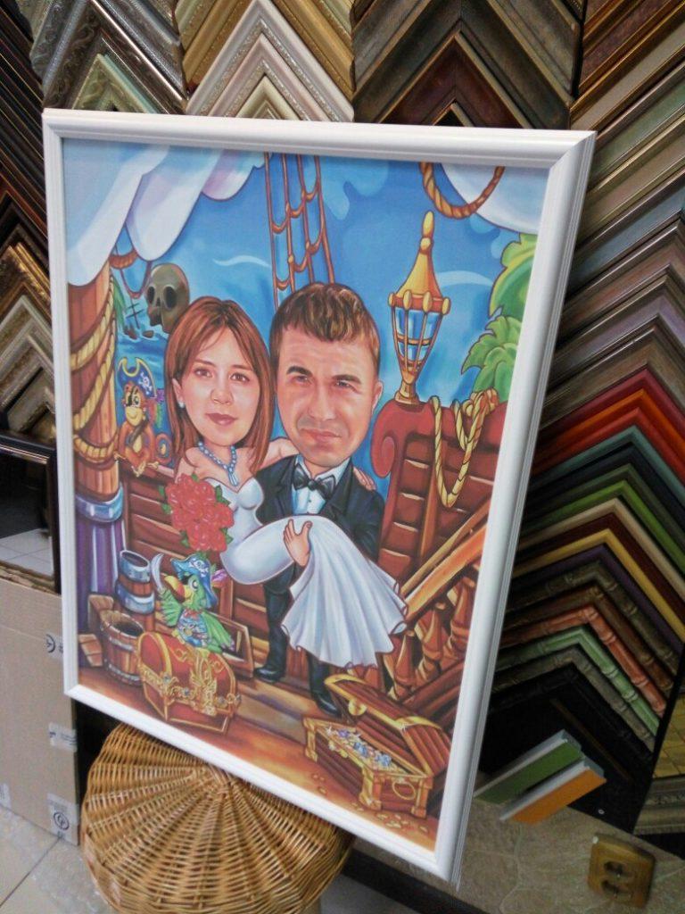 шарж по фото на заказ в омске