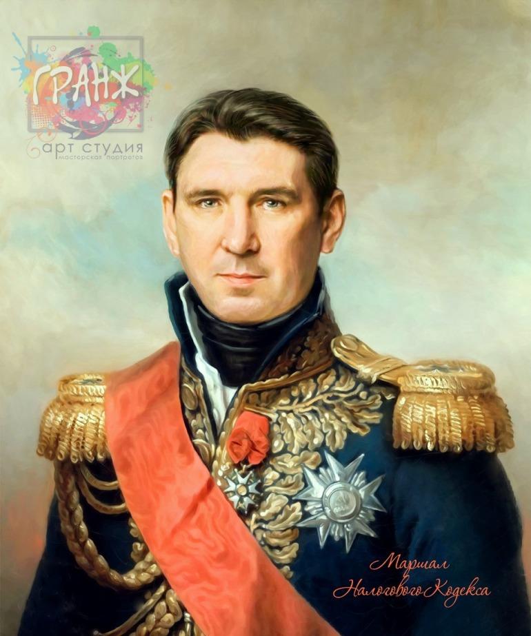 Портрет по фото на холсте в подарок мужчине на 23 февраля Омск