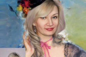 Заказать арт портрет по фото на холсте в Омске
