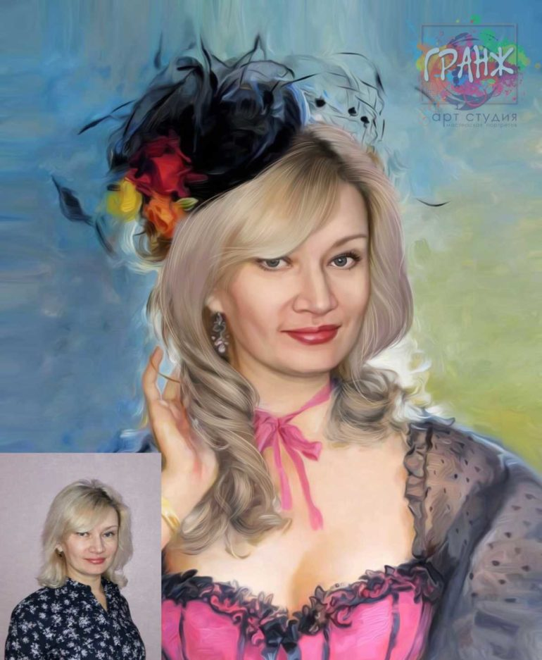 Заказать арт портрет по фото на холсте в Омске…