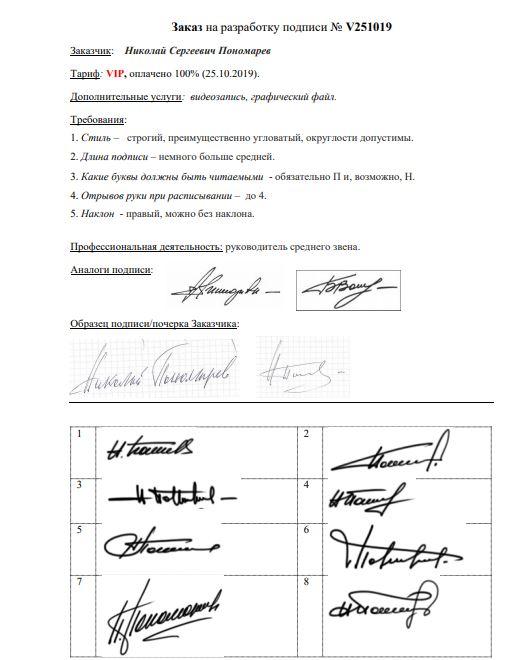 Разработка личной подписи онлайн Омск