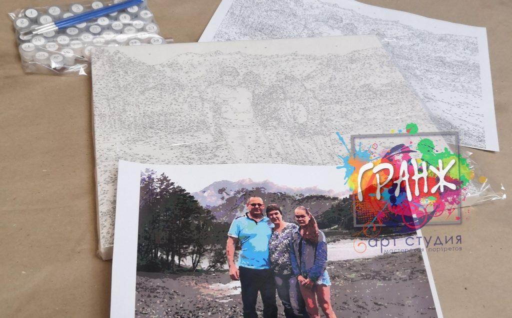 картин по номерам на холсте по фото в Омске