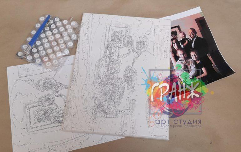 Картина по номерам по фото, портреты на холсте и дереве в Омске